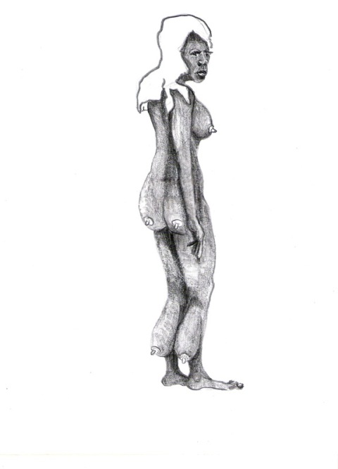 """""""no title"""", pecil on paper, A4,2007"""