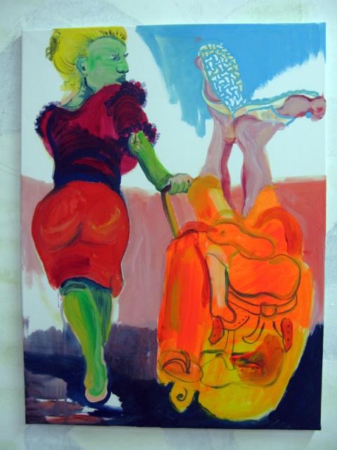 'Birkenstocks rules', 2008, 70x100cm