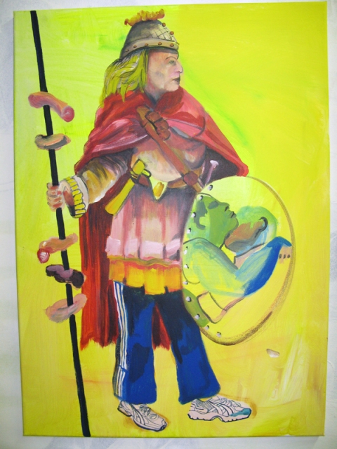 'Amazone', 2008, acrylic on canvas, 60x80cm